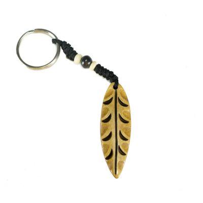 Bone key chain Leaf