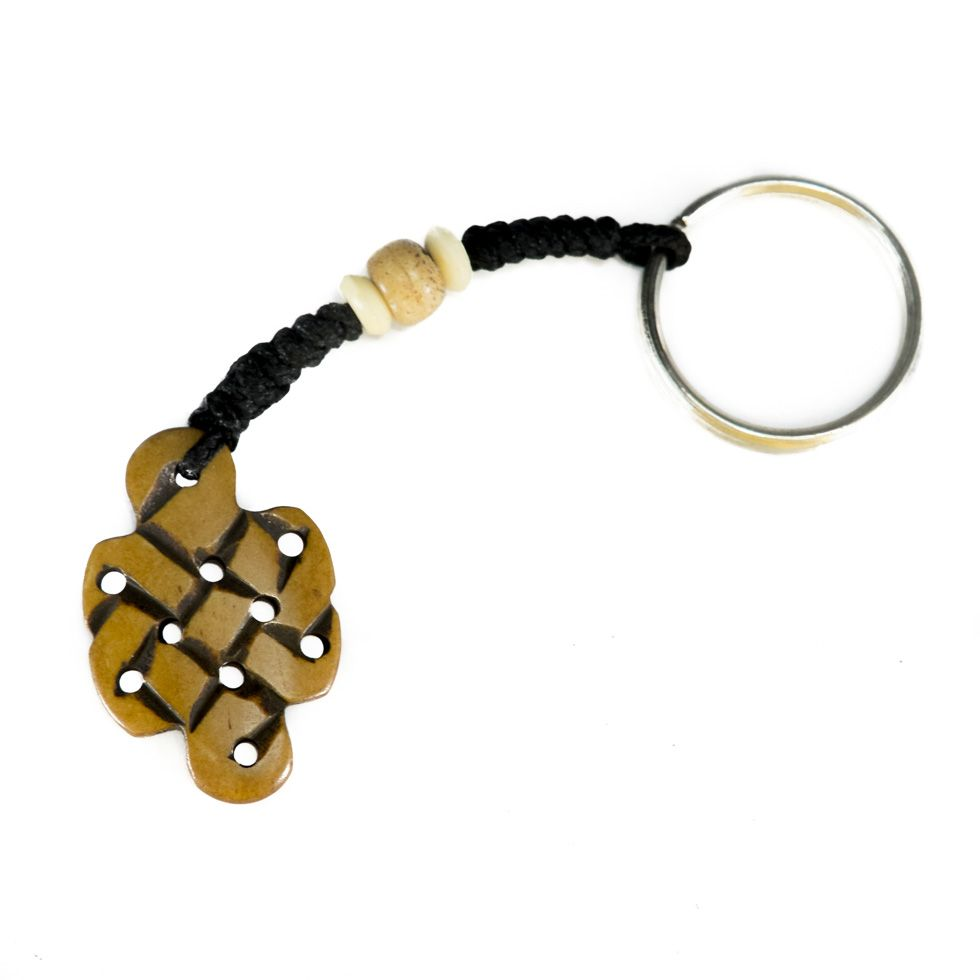 Bone key chain Endless knot