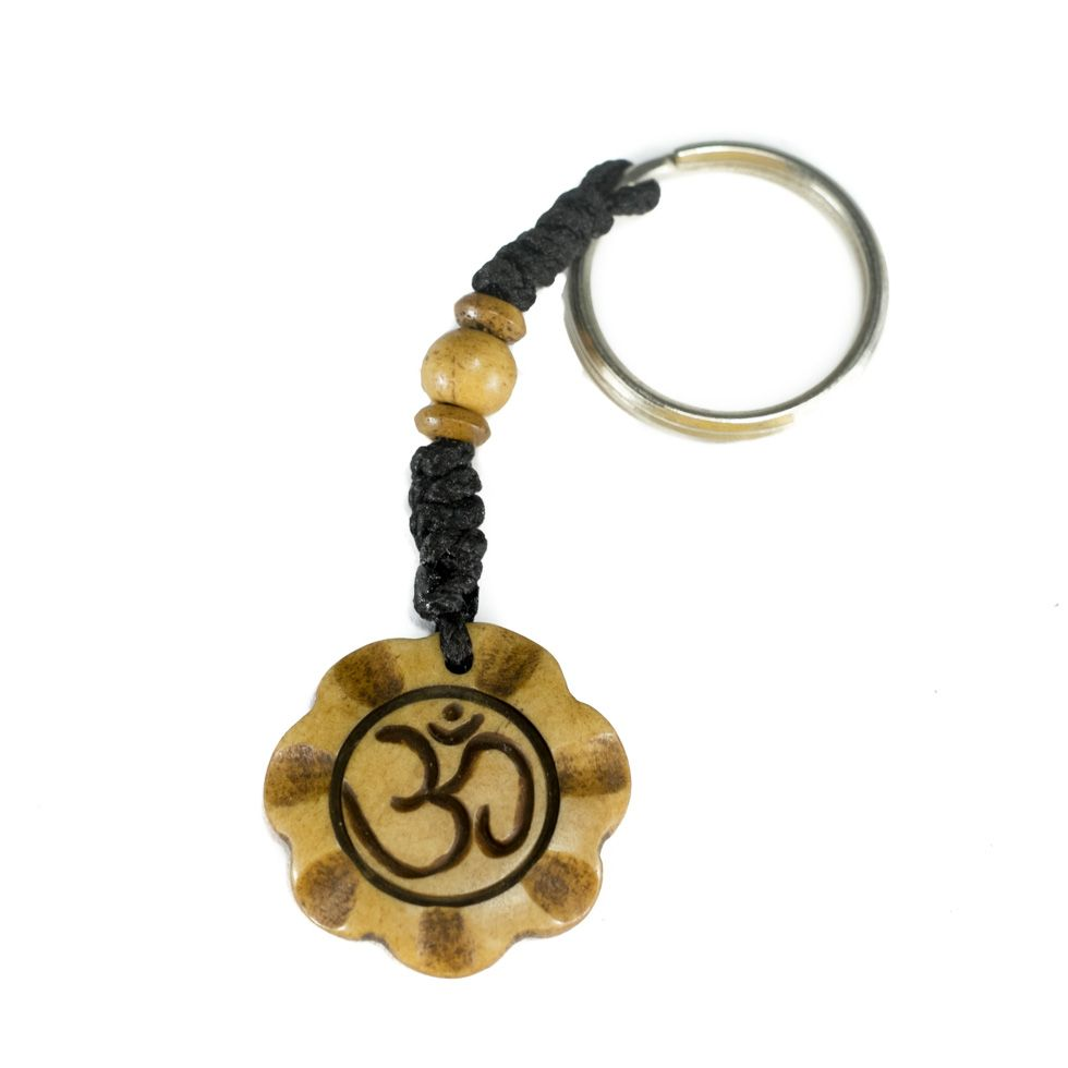 Bone key chain Om di mekar