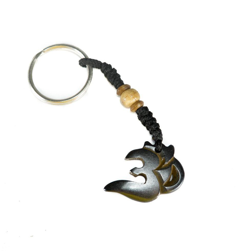 Bone key chain Om Nyata - dark