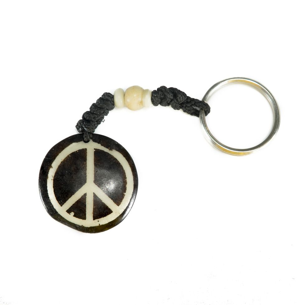 Bone key chain Peace