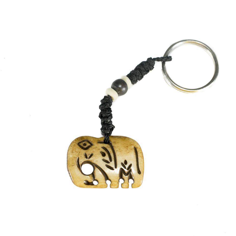Bone key chain Elephant
