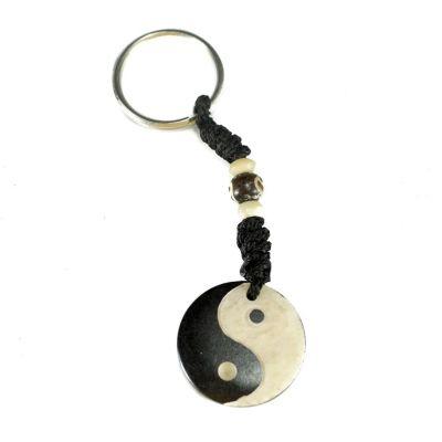 Bone key chain Yin&Yang