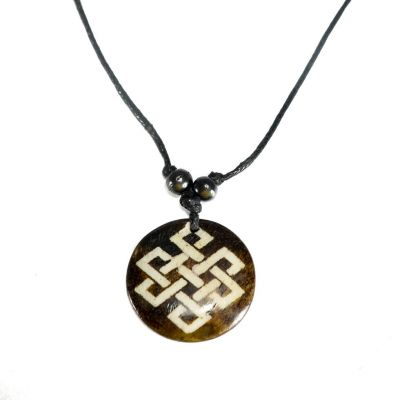 Pendant Endless knot - dark, simple