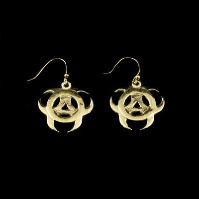 Brass earrings Celtic Biohazard
