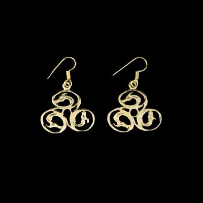 Earrings Dragon spiral