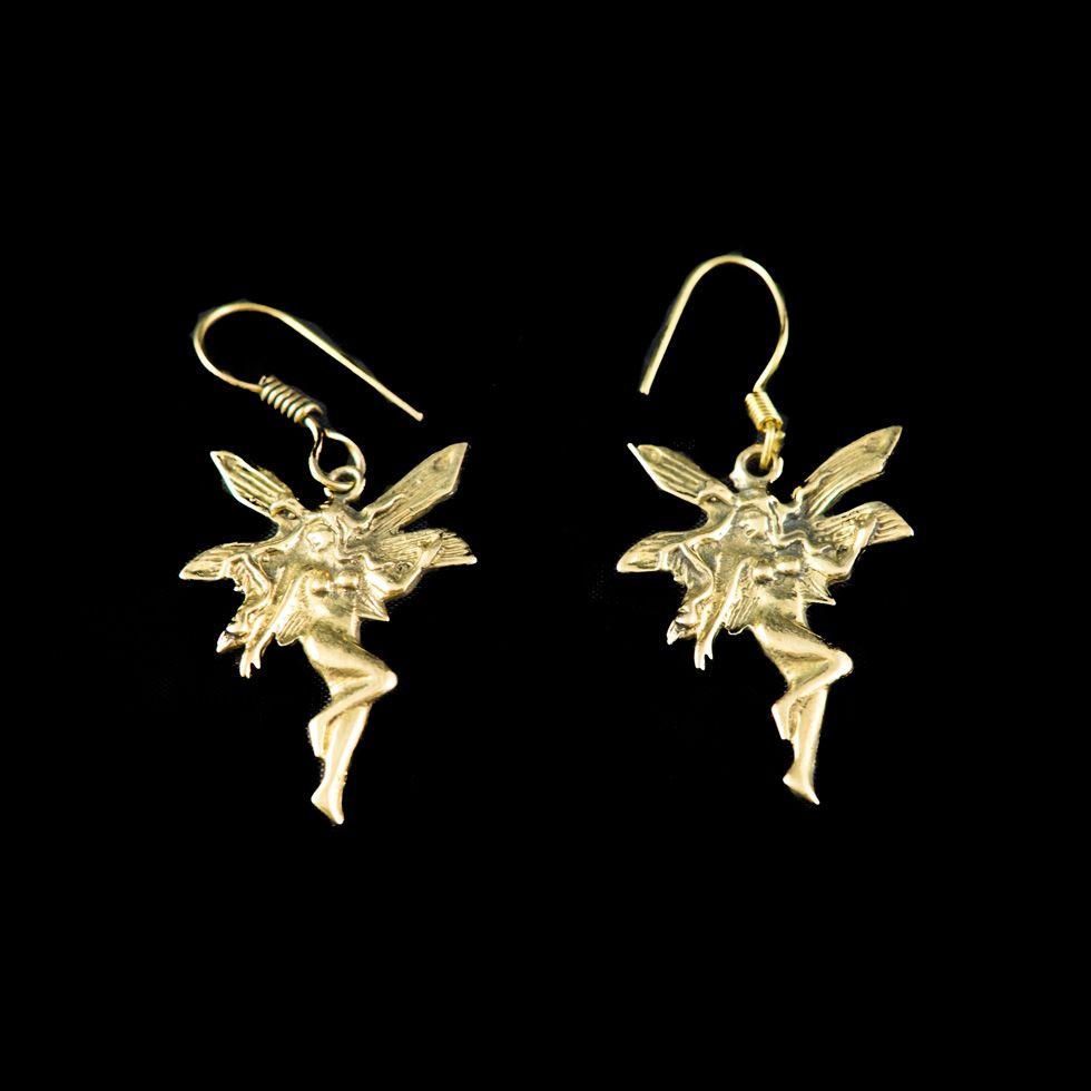 Brass earrings Fairy India