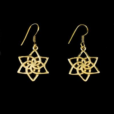 Earrings Star spiral