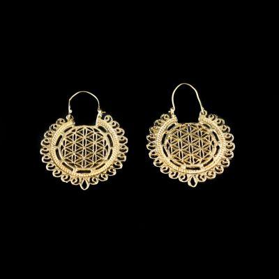 Brass earrings Vimala