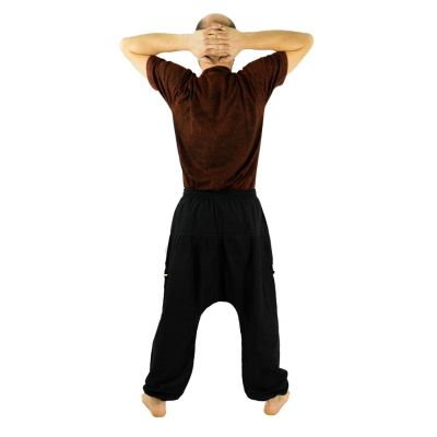 Men's trousers with low crotch Jatan Hitam