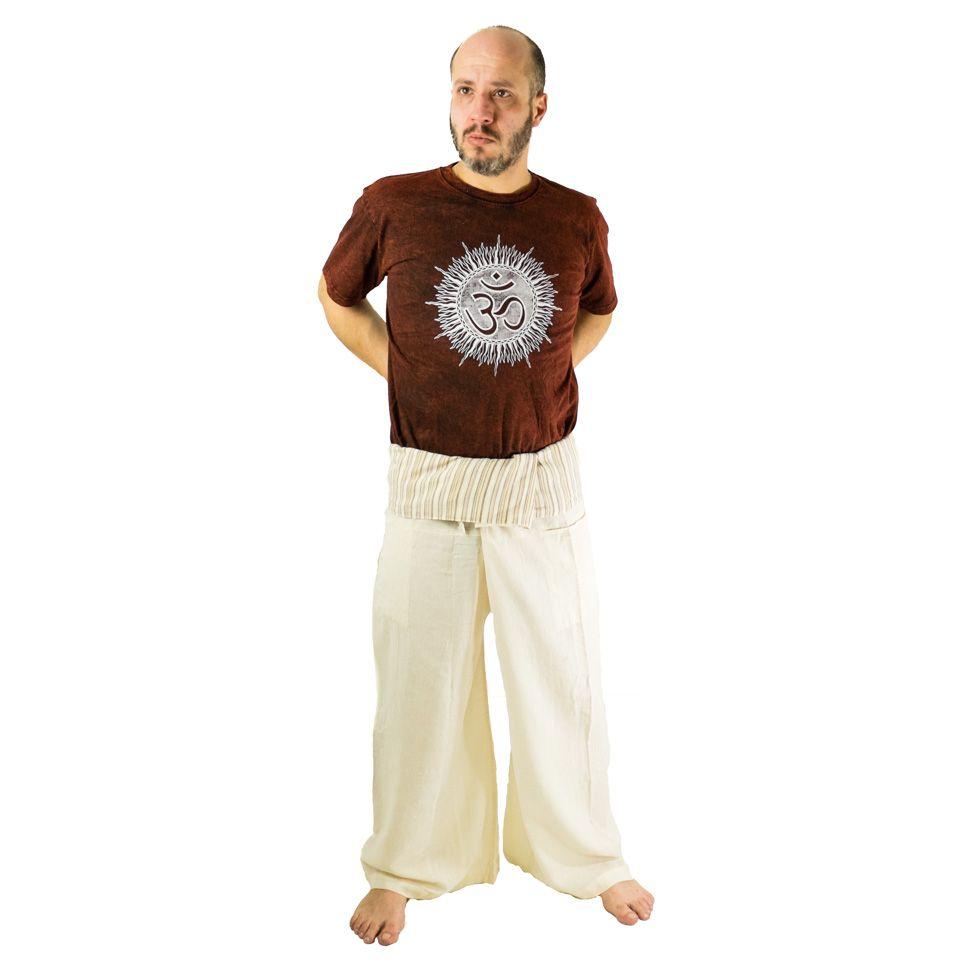 Wrap trousers - Fisherman's Trousers - beige
