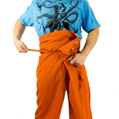 Wrap trousers - Fisherman's Trousers - orange