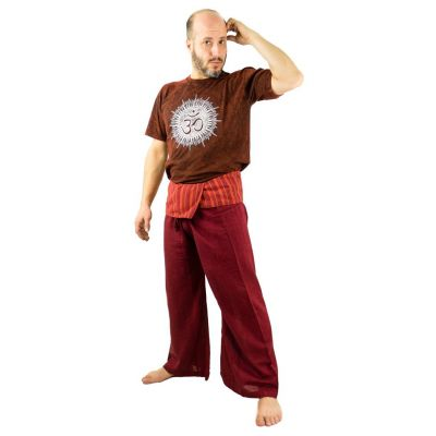 Fisherman's Trousers - burgundy