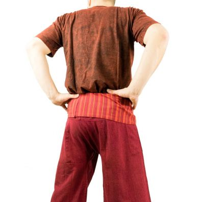 Wrap trousers - Fisherman's Trousers - burgundy