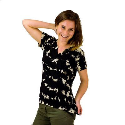 Women's t-shirt with short sleeves Benita Black