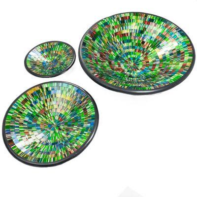Bowl Berkilau Green, round