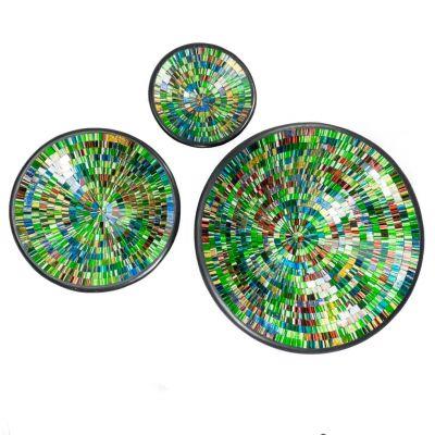 Decorative bowl Berkilau Green, round