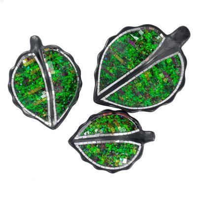 Bowl Berkilau Green Leaf