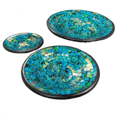 Bowl Berkilau Turquoise, round