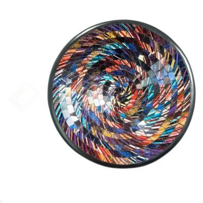 Decorative bowl Berkilau Vane, round