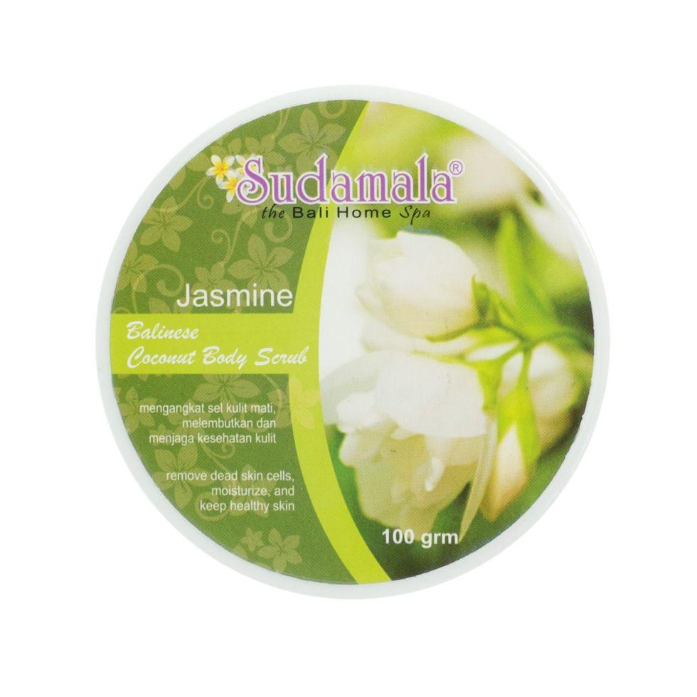 Coconut body scrub with jasmine fragrance