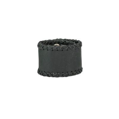 Leather bracelet Menjahit Black