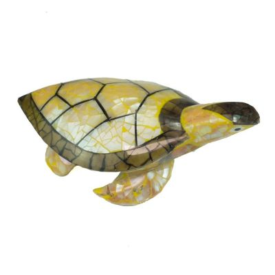 Statuette Turtle - yellow