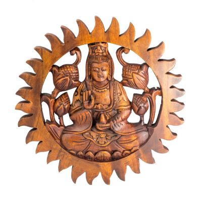 Wall sculpture Buddha Abhaya
