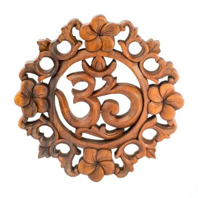 Wall sculpture Floral Om