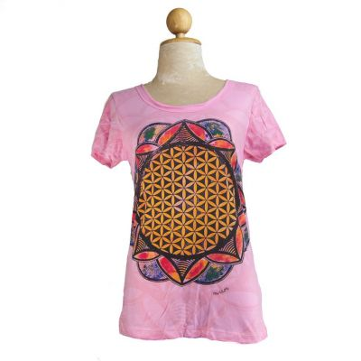 Women's t-shirt Flower of Life Pink