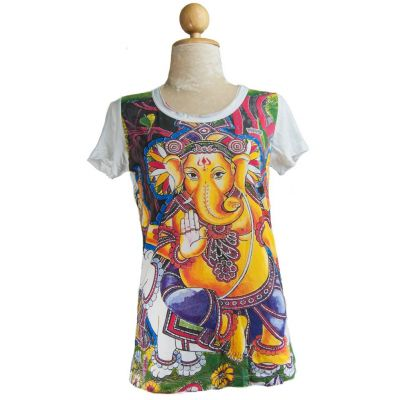 Women's t-shirt Ganapati White
