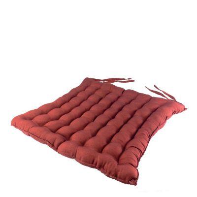 Burgundy seat cushion