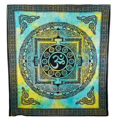 Bed cover Om and chakras