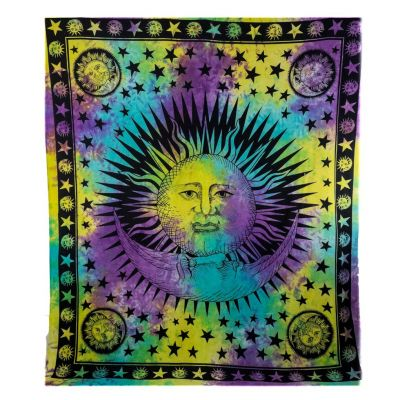 Bed cover Sun and Moon