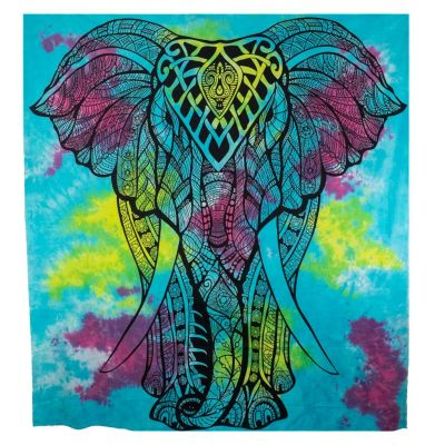 Bed cover Big Elephant - turquoise