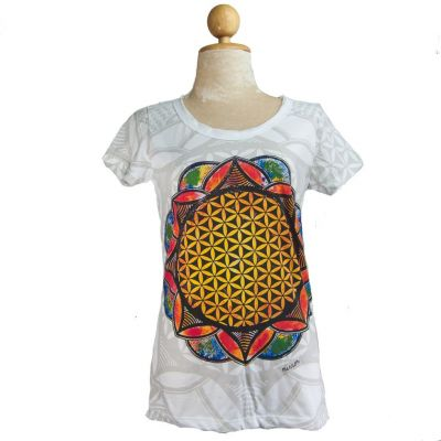 Women's t-shirt Flower of Life White