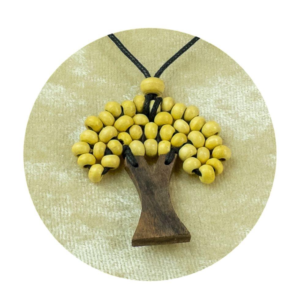 Wooden Pendant Tree - beige