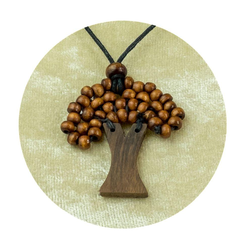 Wooden Pendant Tree - brown