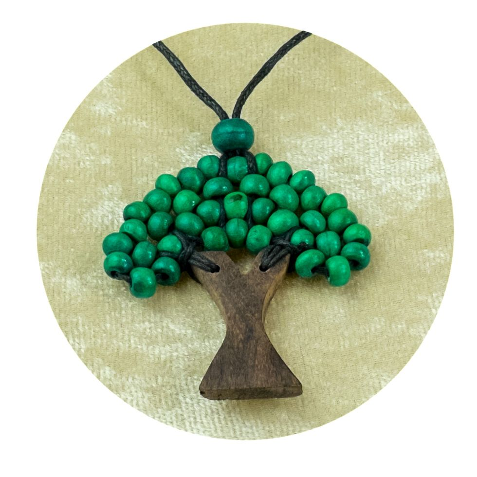Wooden Pendant Tree - dark green