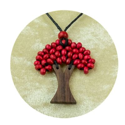 Pendant Tree - burgundy