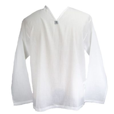 Kurta Abiral White - men's shirt with long sleeves