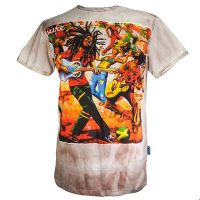 T-shirt Bob Marley Brown
