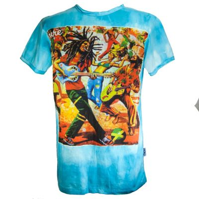 Men's t-shirt Sure Bob Marley Turquoise