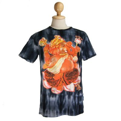 T-shirt Ganesh on Lotus Black