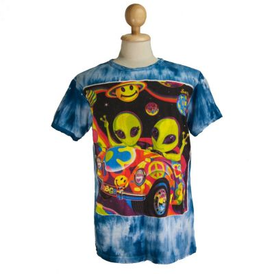 T-shirt Hippie Aliens Blue