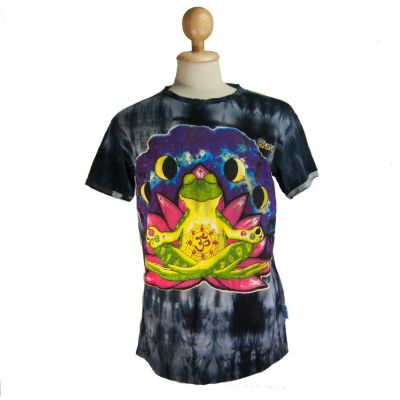 T-shirt Meditating Frog Black