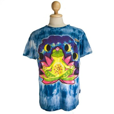 T-shirt Meditating Frog Blue