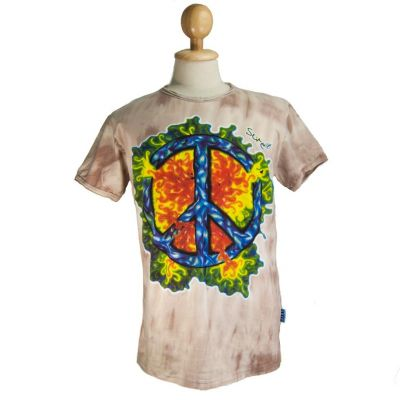 T-shirt Peace Brown