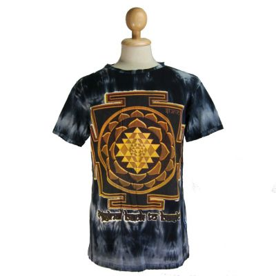 T-shirt Sri Yantra Black
