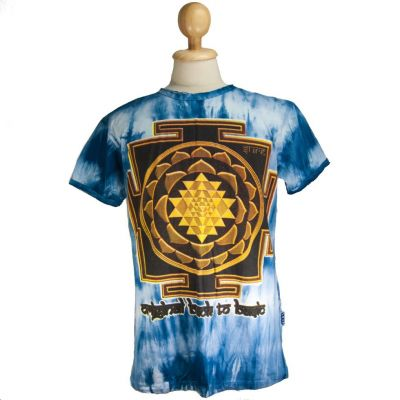 T-shirt Sri Yantra Blue